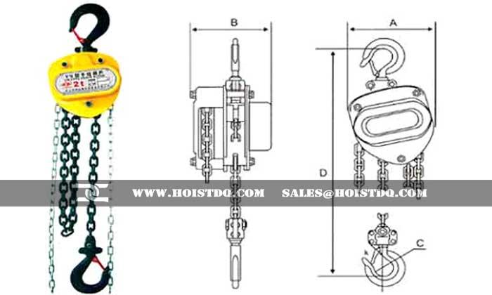 Explosion proof manual hoist
