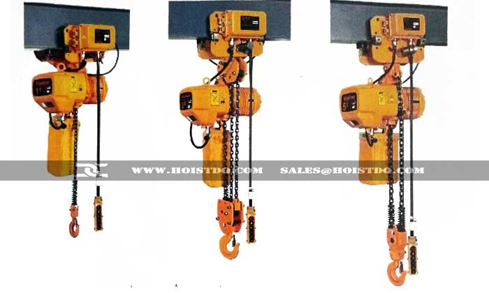 Electric Chain Hoist With Motorized Trolley Motorized