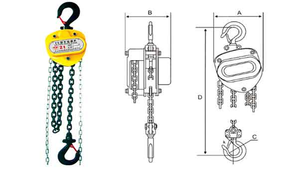Chain Lift Diagram : Chain hoists and blocks types of for