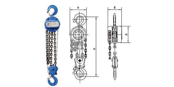 Manual chain hoist up to 20 ton | HS-T Manual chain hoist | Manual